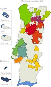 Mapa castas vinho
